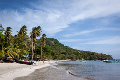 Tropical beach in Providence, Colombia. One of many small beaches all around the island of Providencia, Colombia. If you walk around you will eventually find Royalty Free Stock Image