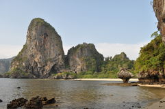 Tropical beach of Railay beach thailand Royalty Free Stock Photography