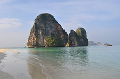 Tropical beach of Railay beach thailand Stock Photography