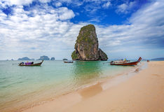 Tropical beach Railay in Thailand Royalty Free Stock Photo