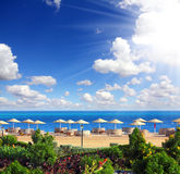 Tropical beach and Red Sea Royalty Free Stock Photo