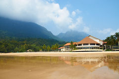 Tropical Beach, Resort in Malaysia (Damai, Borneo) Stock Photos