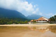 Tropical Beach, Resort in Malaysia (Damai, Borneo) stock photos
