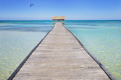 Tropical beach resort stock photography