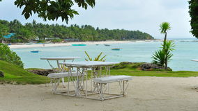 Tropical beach resort on Bantayan Island Royalty Free Stock Image