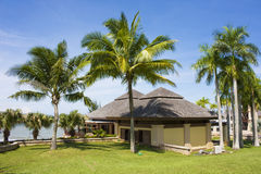 Tropical Beach Resort Building, Brunei royalty free stock images