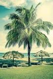 Tropical beach resort in the caribbean Stock Photo