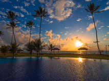 Tropical Beach Resort royalty free stock photography