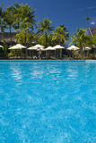 Tropical beach resort on moorea in south seas Stock Images