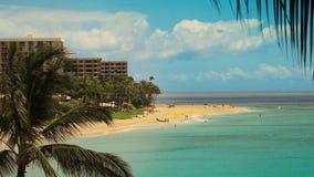 Tropical Beach Resort Paradise (HD). Medium shot of Kaanapali beach Maui, Hawaii. Shot on 1080P HD video stock video