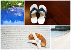 Tropical Beach resort series Stock Photos