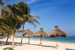Tropical beach in the Riviera Maya Stock Images