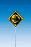 Tropical beach road sign Royalty Free Stock Photo