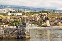 Tropical beach in San Juan town on coast of Tenerife Royalty Free Stock Image