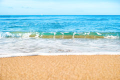 Tropical beach with sand and sea Royalty Free Stock Image
