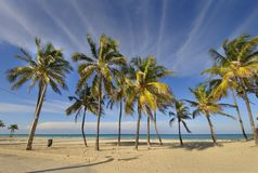 Tropical beach at Santa maria del mar, cuba Stock Photography