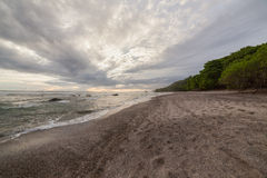 Tropical beach at santa teresa costa rica. Tropical beach and forest at santa teresa costa rica Stock Image