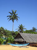 Tropical beach scene Royalty Free Stock Image
