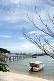 Tropical Beach Scene. Tropical beach in the penang islands Stock Photo