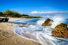 Tropical beach scene Stock Photography