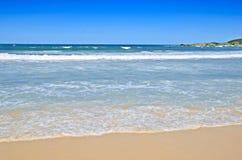 Tropical beach scene. Landscape or seascape of a beautiful tropical beach scene Royalty Free Stock Photos