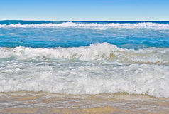 Tropical beach scene. Landscape or seascape of a beautiful tropical beach scene Royalty Free Stock Images
