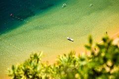 Tropical beach scene. Las Teresitas, Santa cruz de Tenerife (Spain royalty free stock image