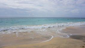 Tropical beach scene. Tropical beach in sal island on cabo verde Stock Image