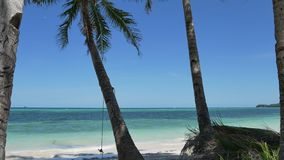 Tropical beach scene in UHD. UHD shot of the peaceful tropical beach stock footage