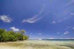 Tropical beach scene, Vanuatu. Tropical beach scene, Pango point, Vanuatu Stock Photos