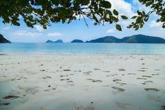 Tropical beach scenery, Andaman sea Royalty Free Stock Photography