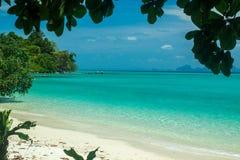 Tropical beach scenery. Beautiful Koh Kradan Island, Trang Province, Thailand Stock Photo