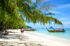 Tropical beach scenery Stock Images