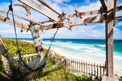 Tropical beach and sea. On Bahamas island of Eleuthera Royalty Free Stock Photos