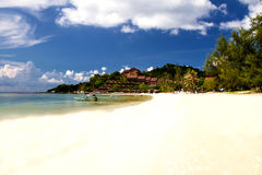 Tropical beach with sea blue sky, Andaman Sea, thailand Stock Images