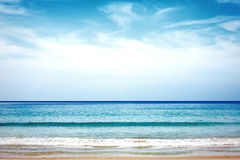 Tropical beach. Sea and coastline. Stock Image