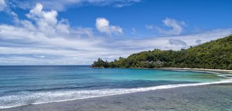 Tropical beach with sea and palm taken from drone. Beach and sea photo. Romantic beach aerial view.  stock images