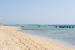 Tropical beach and sea at resort Stock Images