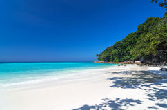 Tropical beach with sea on the sand and trees, ta-chai island so Stock Photography