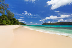 Tropical beach, sea and sky. Tropical beach,  sea and sky Royalty Free Stock Images