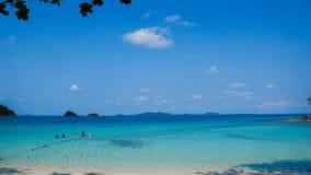 Tropical beach and sea. Tropical beach sea tree sky sand royalty free stock photos