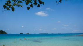 Tropical beach and sea. Tropical beach sea tree sky sand royalty free stock image