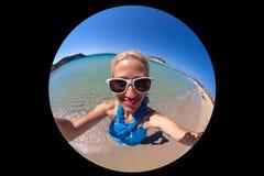 Tropical beach selfie Royalty Free Stock Image
