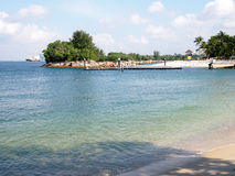 Tropical beach in sentosa, Singapore Royalty Free Stock Photos