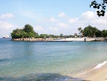 Tropical beach in sentosa, Singapore Stock Photography