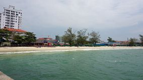 Serendipity beach. Tropical beach serendipity in sihanoukville in cambodia royalty free stock photography