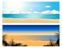Tropical beach set Stock Photos