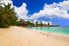 Tropical beach at Seychelles Royalty Free Stock Image