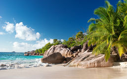 Tropical Beach on the Seychelles Royalty Free Stock Photography