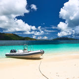Tropical beach at Seychelles Royalty Free Stock Photos